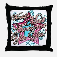 Worlds Most Awesome Yia Yia Throw Pillow