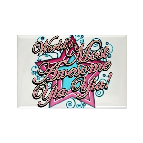 Worlds Most Awesome Yia Yia Rectangle Magnet (100