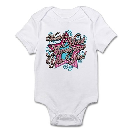 Worlds Most Awesome Yia Yia Infant Bodysuit
