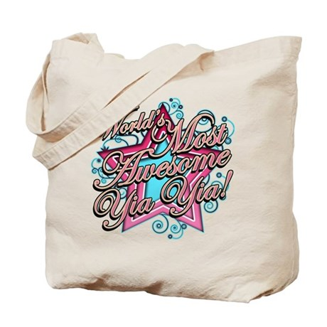 Worlds Most Awesome Yia Yia Tote Bag