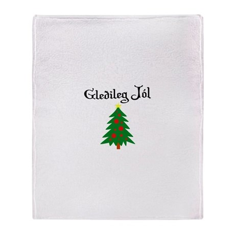 Icelandic Christmas Tree Throw Blanket
