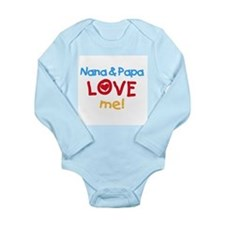 Text Nana Papa Love Me Long Sleeve Infant Bodysuit
