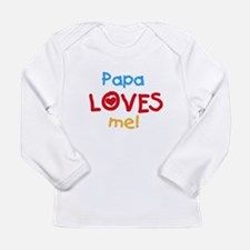 Text Papa Loves Me Long Sleeve Infant T-Shirt