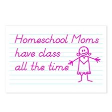 Classy Homeschool Mom Postcards (Package of 8)