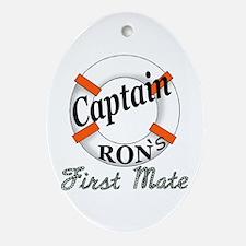 Captain Ron Ornament (Oval)