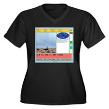 Hangman Pro Women's Plus Size V-Neck Dark T-Shirt