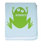 Frog: Ribbit baby blanket