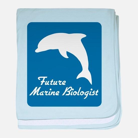 Future Marine Biologist baby blanket