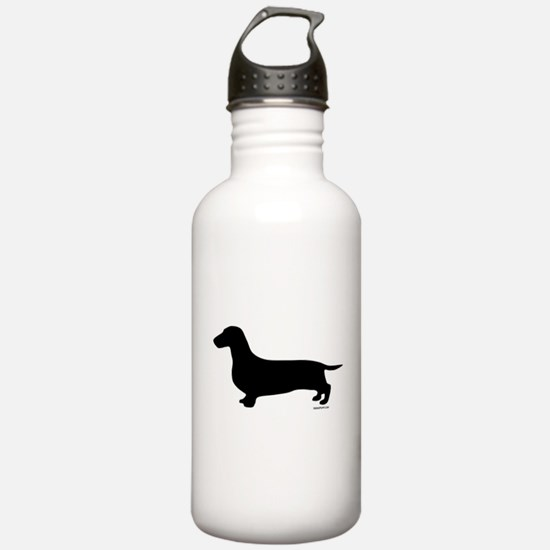 Dachshund Silhouette Sports Water Bottle