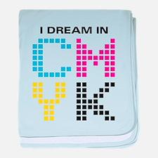 Dream In CMYK baby blanket