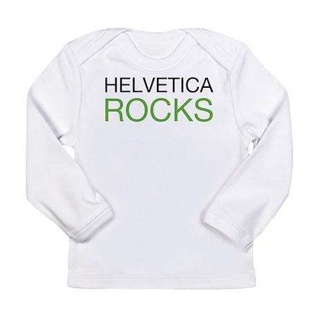 Helvetica Rocks Long Sleeve Infant T-Shirt