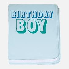 Birthday Boy baby blanket