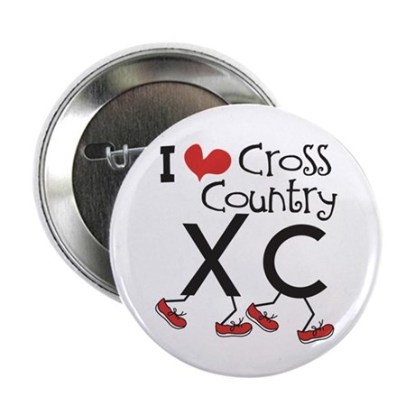 """I heart Cross Country 2.25"""" Button (100 pack)"""