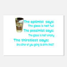 Optimist? Pessimist? Thirstiest. Postcards (Packag