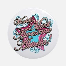 World's Most Awesome Abuela Ornament (Round)