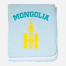 Mongolia English baby blanket