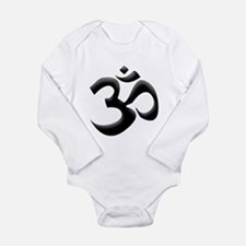 Black Om Long Sleeve Infant Bodysuit