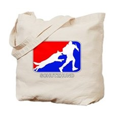 Schutzhund Red and Blue Tote Bag