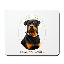 Guardian Angel Rottweiler Mousepad