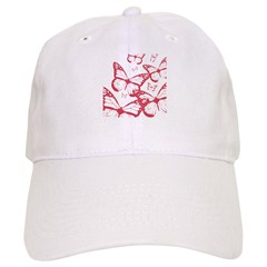Red Dot Butterfly Baseball Cap