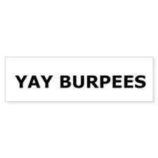 Yay Burpees Car Sticker