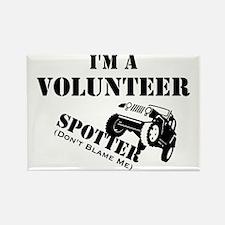 Volunteer Spotter Rectangle Magnet