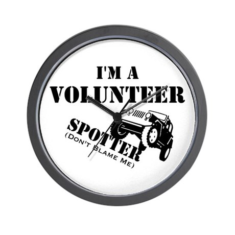 Volunteer Spotter Wall Clock
