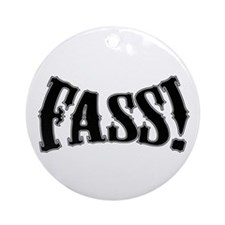 fass Silhouette Ornament (Round)