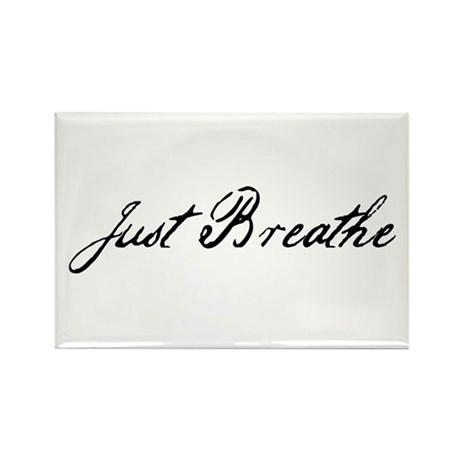 Just Breathe Rectangle Magnet (100 pack)