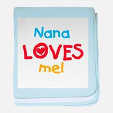 Text Nana Loves Me baby blanket