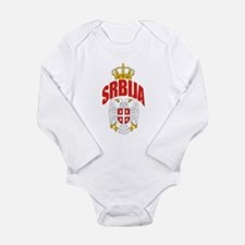 Serbia Long Sleeve Infant Bodysuit