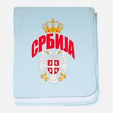 Serbia Cyrillic baby blanket