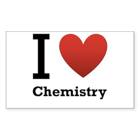 I Love Chemistry Sticker (Rectangle 50 pk)