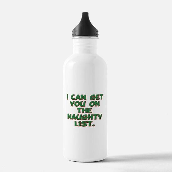 Naughty list Water Bottle