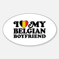 I Love My Belgian Boyfriend Decal