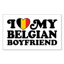 I Love My Belgian Boyfriend Decal