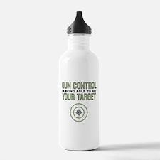 Gun Control Sports Water Bottle