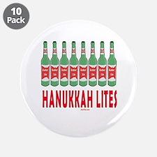 "Hanukkah Lights 3.5"" Button (10 pack)"
