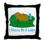 Couch Potato Hanukkah Throw Pillow