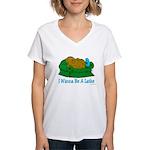 Couch Potato Hanukkah Women's V-Neck T-Shirt