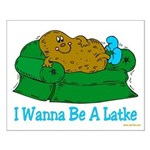 Couch Potato Hanukkah Small Poster