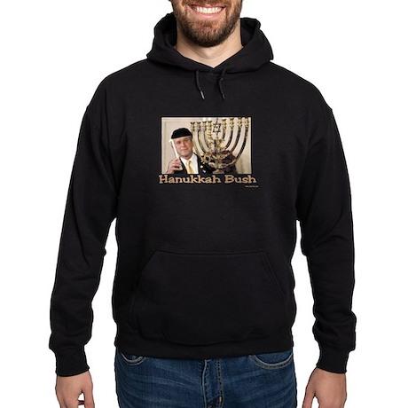 Hanukkah Bush Hoodie (dark)
