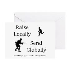 Raise & Send Greeting Card
