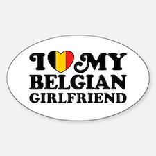I Love My Belgian Girlfriend Decal