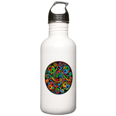Celtic Stained Glass Spiral Stainless Water Bottle