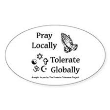 Pray & Tolerate Decal