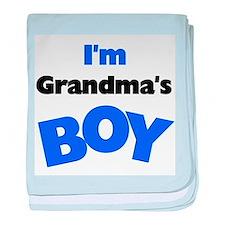 I'm Grandma's Boy baby blanket