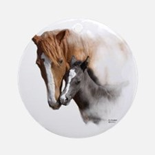 Mare & Foal Mothers Love Ornament (Round)
