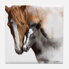 Mare & Foal Mothers Love Tile Coaster