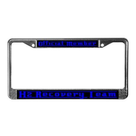 Blue H2 Recovery License Plate Frame